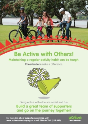 Active Canterbury: Be active with others!