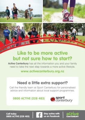 Active Canterbury: Like to be more active but not sure how to start?