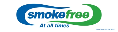 Smokefree at All Times - Window