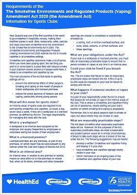 Information for Sport Clubs