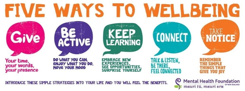 Five ways to wellbeing.