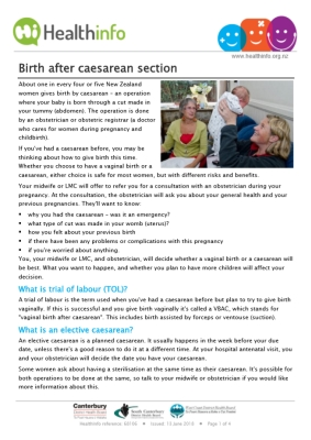 Birth After Caesarean Section